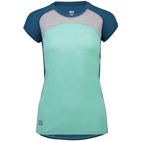Mons Royale Bella Tech Tee Women oily blue/peppermint/grey marl